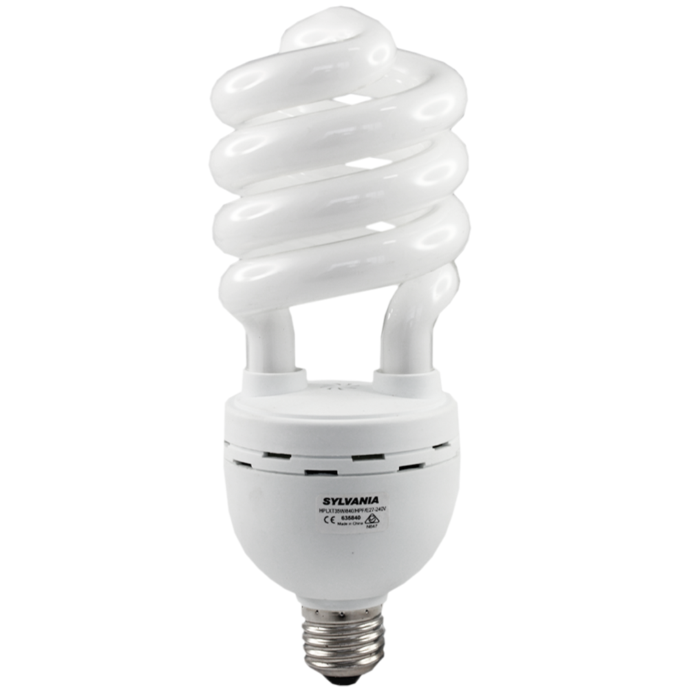 Sylvania Spiral Compact Fluorescent HPLXT 35W Cool White Edison
