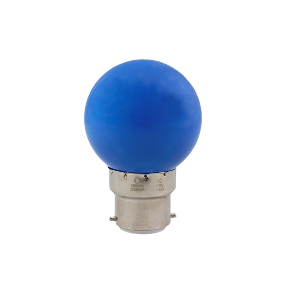 LED Fancy Round Blue 1W 230V BA22d