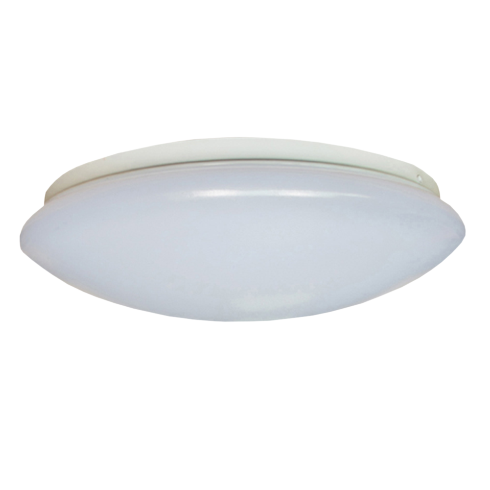 LED Tri-Colour Oyster Ceiling Light 18W Dimmable