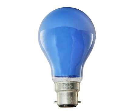 Coloured GLS Light Globe 40W Bayonet 240V Blue