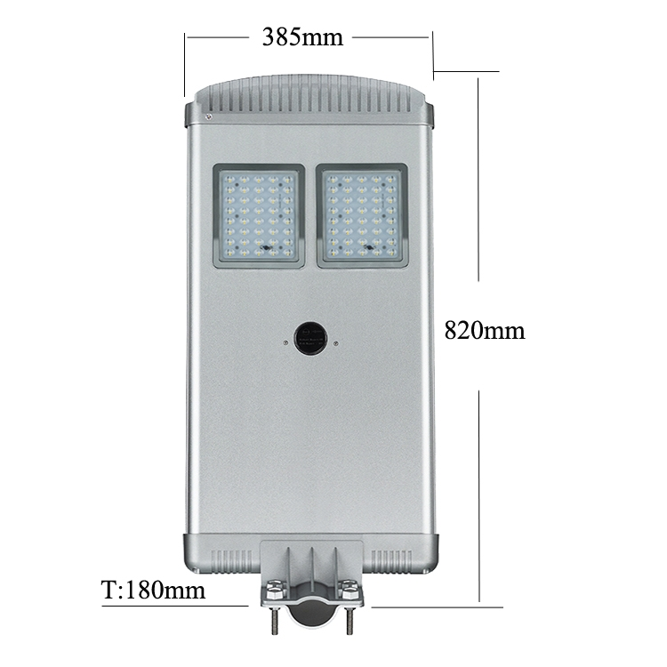 LED Solar Street Light 40W 18V 4000LM (Pole not included)