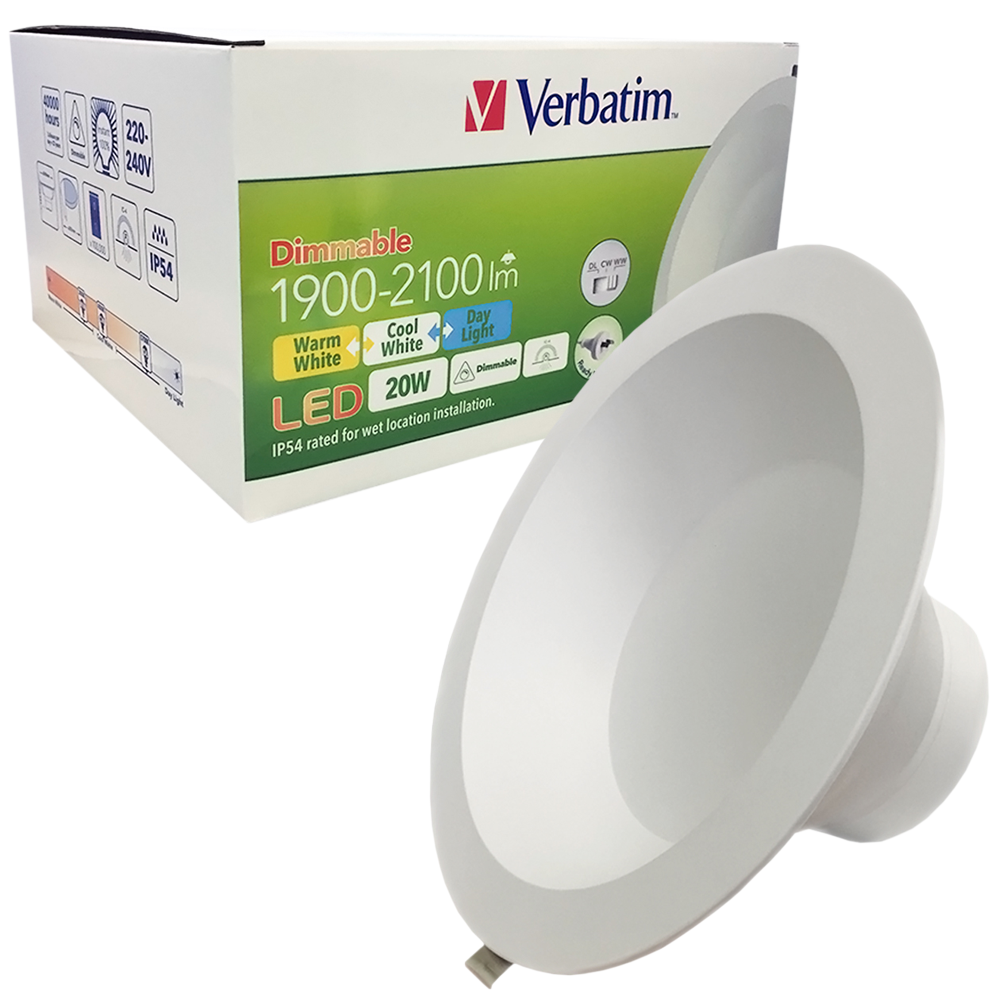 LED Tri Colour Downlight 20W 3-CCT Dimmable 240MM