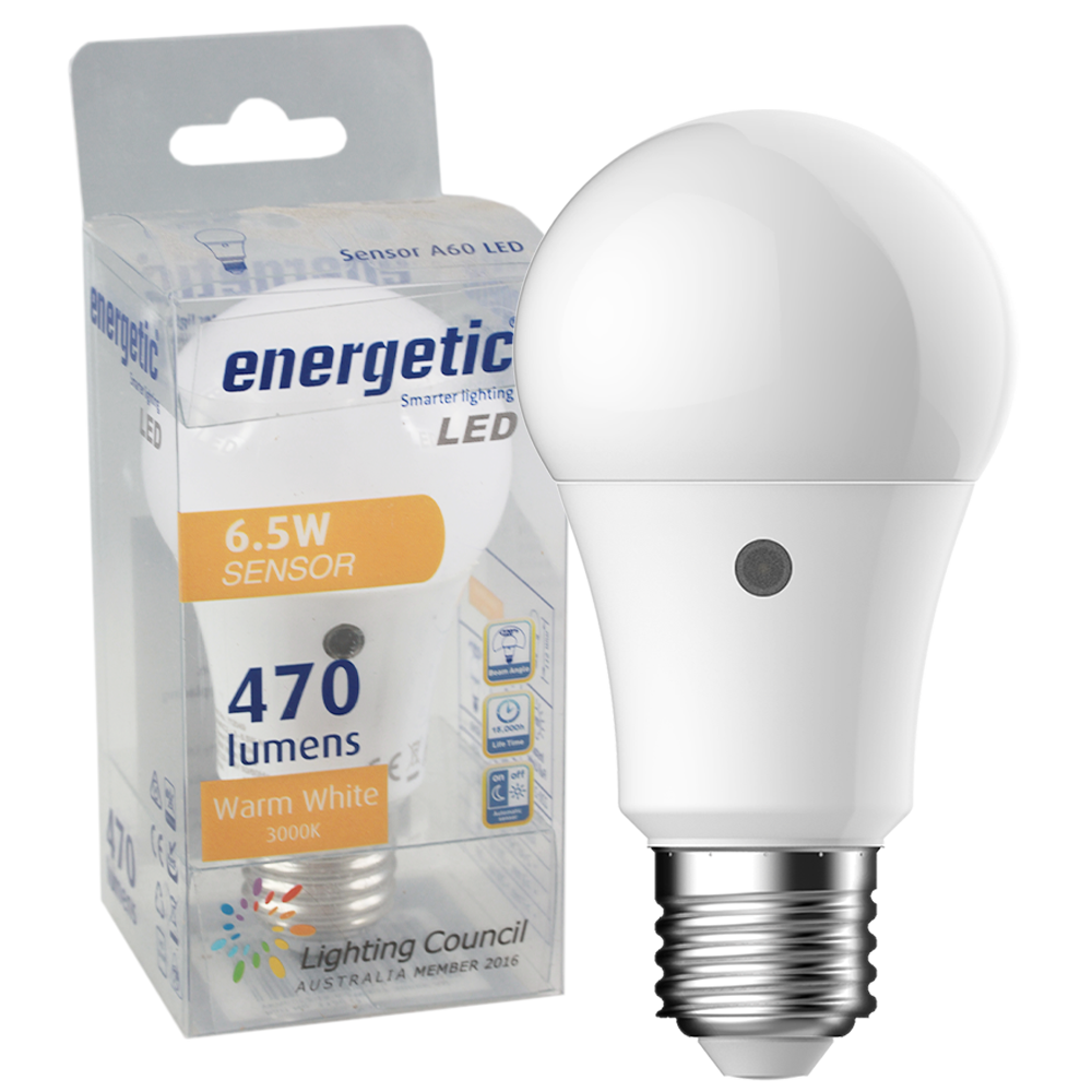 Smarter Lighting SupValue A60 6.5W Sensor 3000K E27 Non-Dimmable
