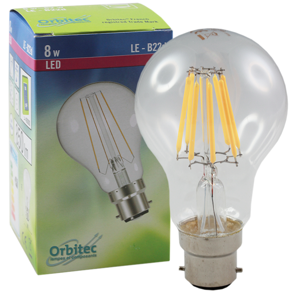 LED LE GLS 8W 2700K B22 Non-Dimmable