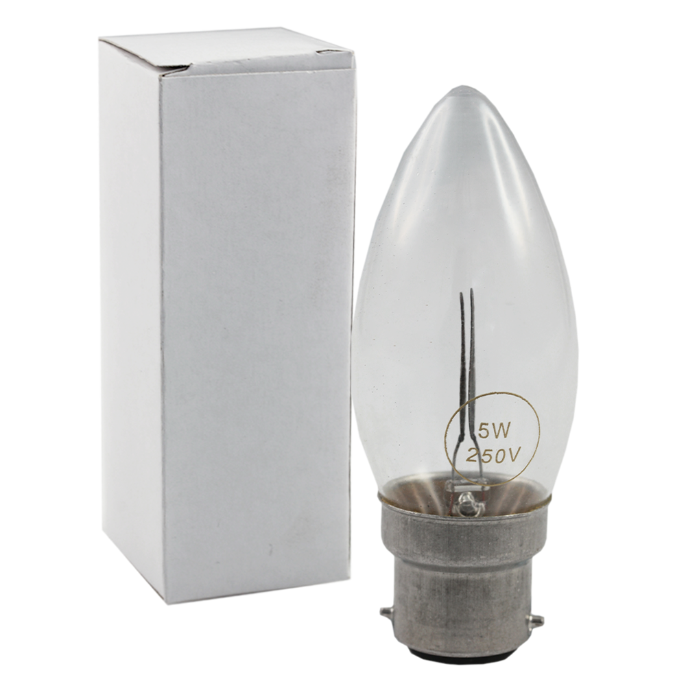 Flicker Flame Candle 5W 250V 2700K B22 Non-Dimmable